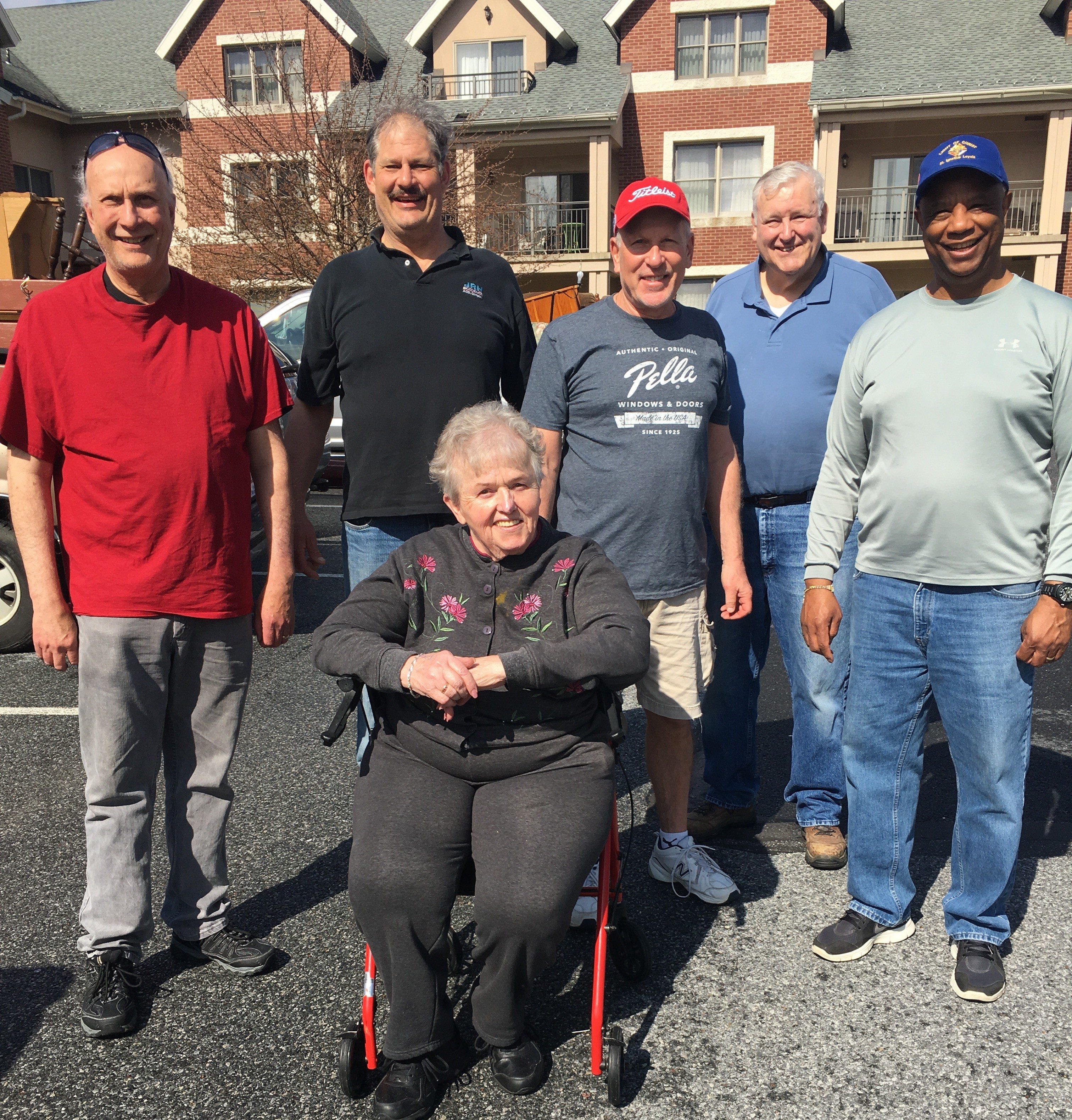 Members of the Knights helped the widow of one of our Knights move into a retirement home over the weekend.